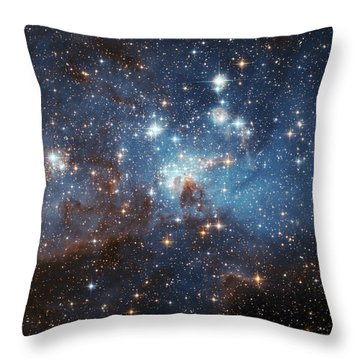 Throw Pillow featuring the photograph Celestial Season's Greetings From Hubble by Nasa