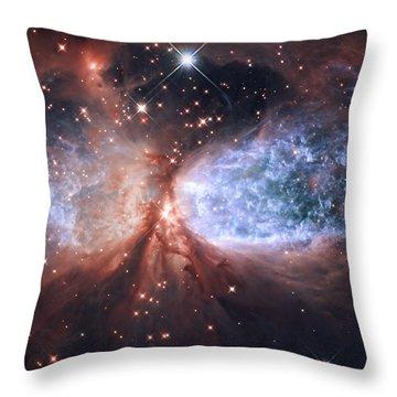 Celestial Snow Angel Throw Pillow