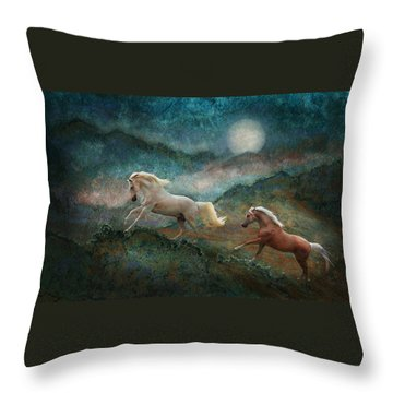Celestial Stallions Throw Pillow