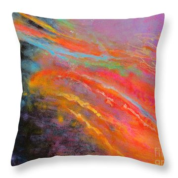 Fantasies In Space Series Painting. Celestial Symphony Throw Pillow