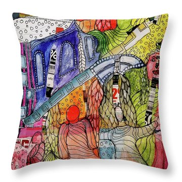 Celestial Windows Throw Pillow by Mimulux patricia no No
