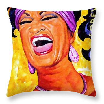 Celia Cruz Throw Pillow by Lanjee Chee