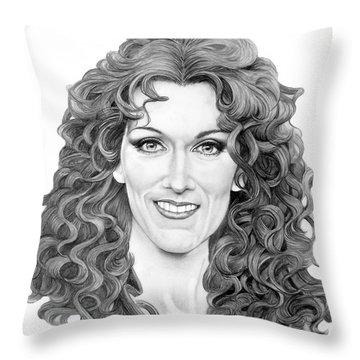 Celine Dion Throw Pillow by Murphy Elliott