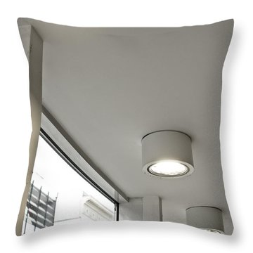 Celing Lights Throw Pillow