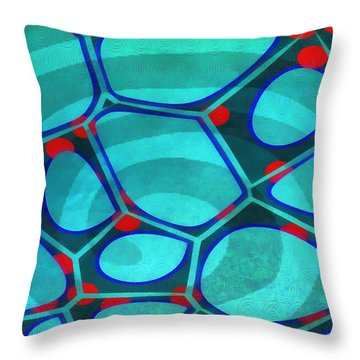 Cell Abstract 6a Throw Pillow