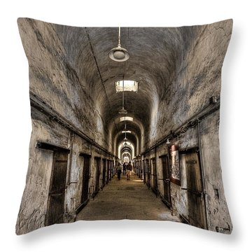 Cell Block  Throw Pillow by Evelina Kremsdorf