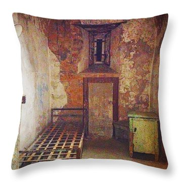 Cell At Eastern State Penitentiary Throw Pillow