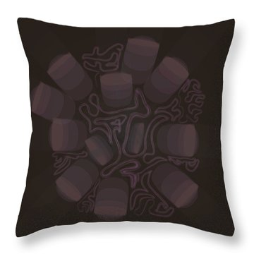 Cell Growth Bomb Throw Pillow