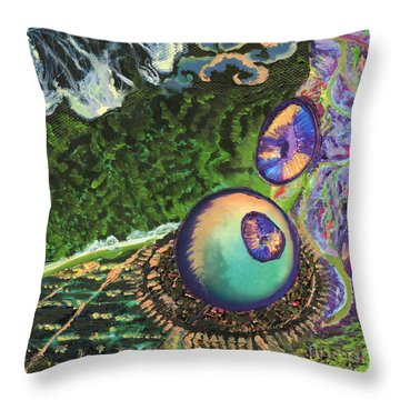 Cell Interior Microbiology Landscapes Series Throw Pillow