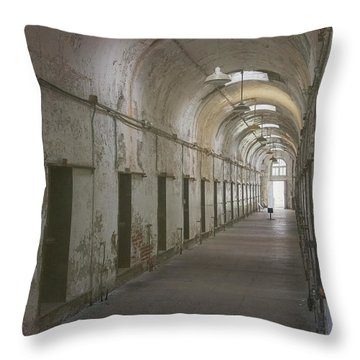 Cellblock Hallway Throw Pillow