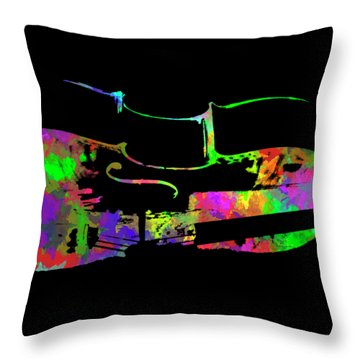 Throw Pillow featuring the mixed media Cello by David Millenheft