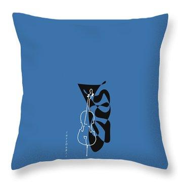 Cello In Blue Throw Pillow