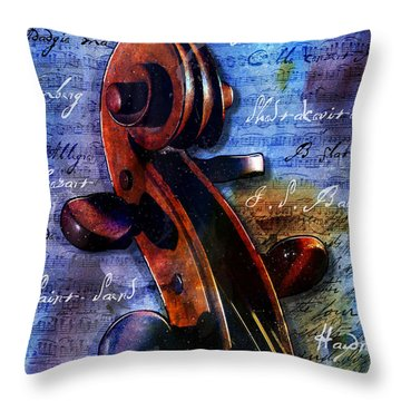 Cello Masters Throw Pillow