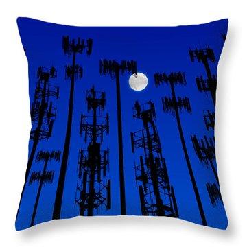 Cellphone Tower Forrest Throw Pillow