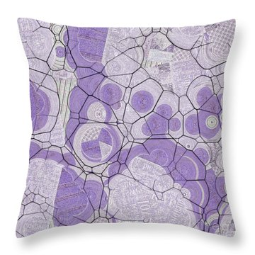 Throw Pillow featuring the digital art Cellules - 03c2 by Variance Collections