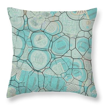 Throw Pillow featuring the digital art Cellules - 04c1 by Variance Collections
