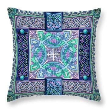 Celtic Atlantis Opal Throw Pillow