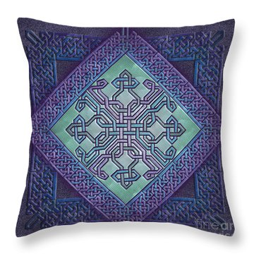 Throw Pillow featuring the mixed media Celtic Avant Garde by Kristen Fox