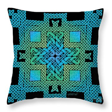 Throw Pillow featuring the mixed media Celtic Castle by Kristen Fox