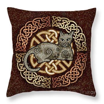 Celtic Cat Throw Pillow