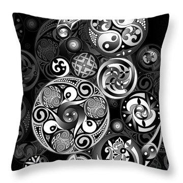 Celtic Clockwork Throw Pillow by Kristen Fox