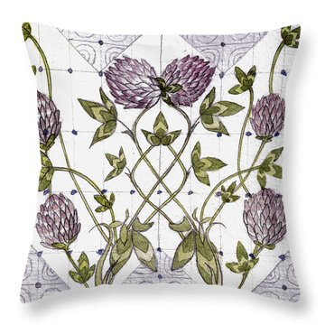Celtic Clover Throw Pillow