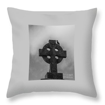 Celtic Cross #2 - Scotland Throw Pillow by Amy Fearn