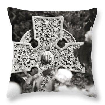 Celtic Cross I Throw Pillow by Tom Mc Nemar