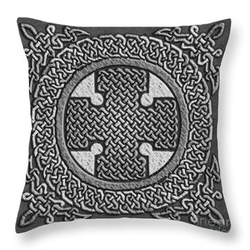 Throw Pillow featuring the mixed media Celtic Cross by Kristen Fox