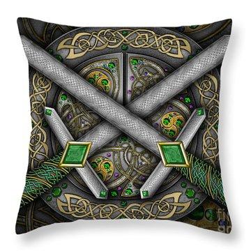 Celtic Daggers Throw Pillow by Kristen Fox