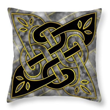 Throw Pillow featuring the mixed media Celtic Dark Sigil by Kristen Fox
