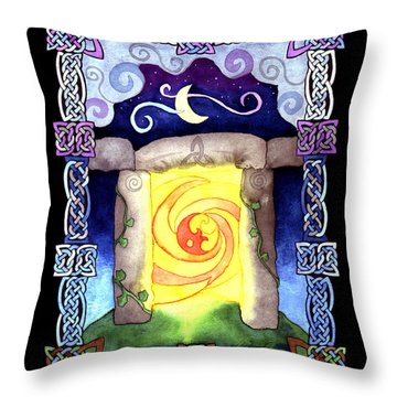 Throw Pillow featuring the painting Celtic Doorway by Kristen Fox