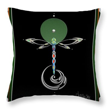 Celtic Dragonfly Throw Pillow