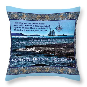 Celtic Explorer - Bluenose II In Halifax Harbour Throw Pillow