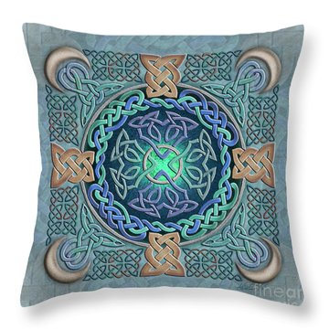 Celtic Eye Of The World Throw Pillow