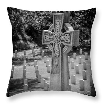 Celtic Grave Throw Pillow
