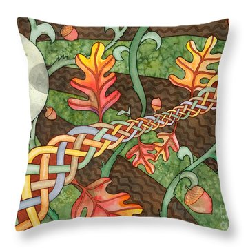 Celtic Harvest Moon Throw Pillow by Kristen Fox