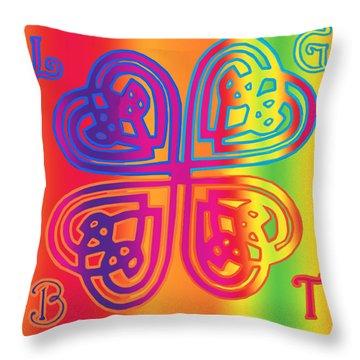 Celtic Knot Rainbow Throw Pillow