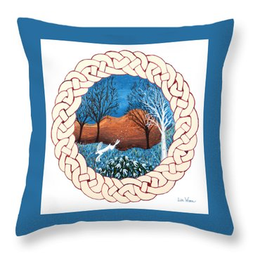 Celtic Knot With Bunny Throw Pillow