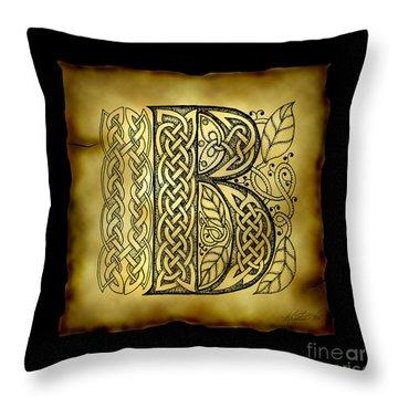 Celtic Letter B Monogram Throw Pillow
