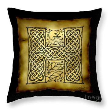 Celtic Letter H Monogram Throw Pillow
