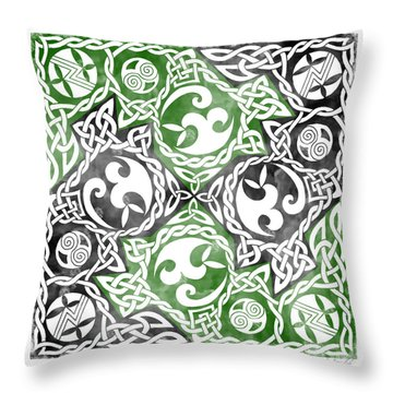 Throw Pillow featuring the photograph Celtic Puzzle Square by Kristen Fox