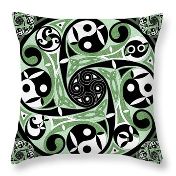 Celtic Spiral Stepping Stone Throw Pillow