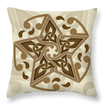 Throw Pillow featuring the mixed media Celtic Star by Kristen Fox