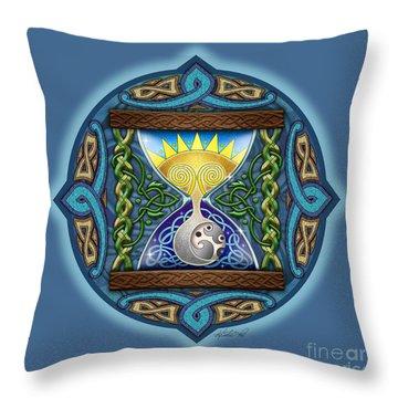 Celtic Sun Moon Hourglass Throw Pillow by Kristen Fox