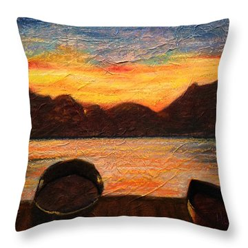 Celtic Sunset Throw Pillow