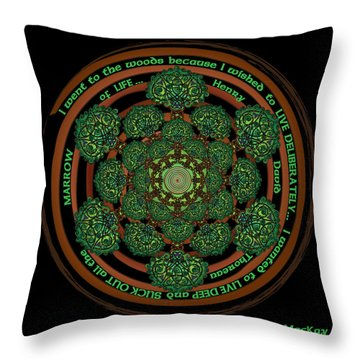 Celtic Tree Of Life Mandala Throw Pillow