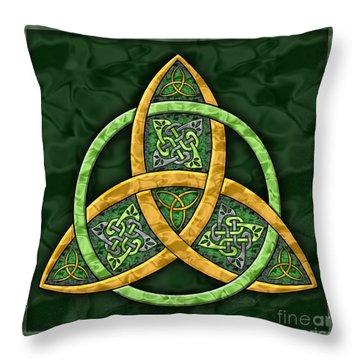 Celtic Trinity Knot Throw Pillow by Kristen Fox