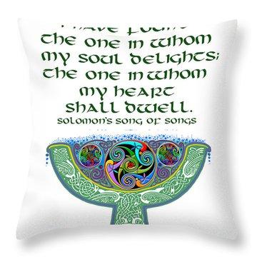 Celtic Wedding Goblet Throw Pillow