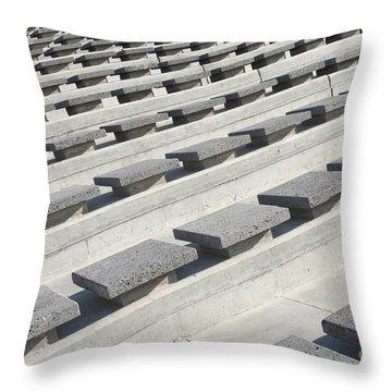 Cement Seats Throw Pillow by Gaspar Avila